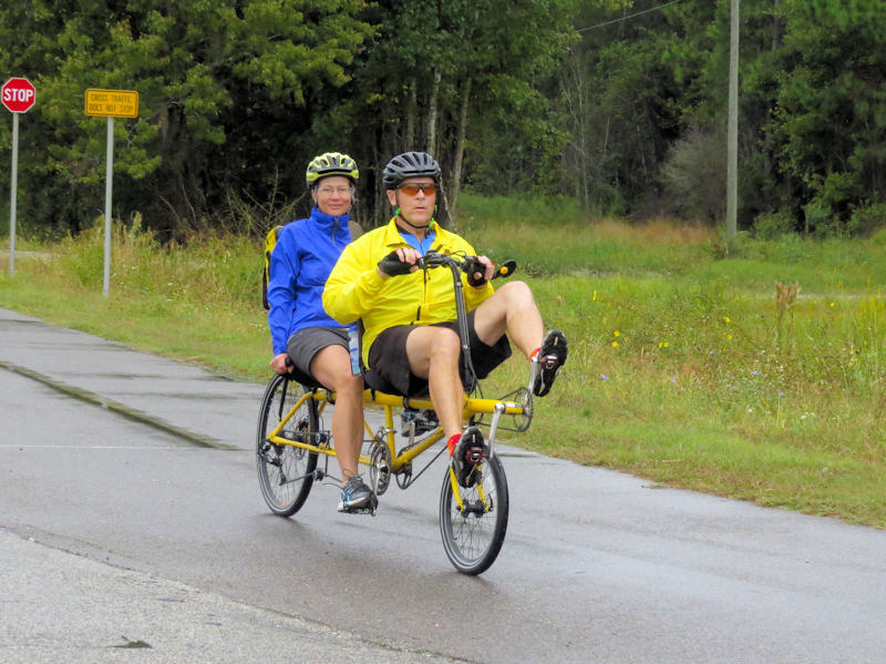 Tandem Recumbent on Bike Tour