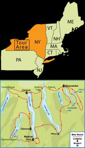 Map Of New York Finger Lakes.Bike Tour Of The Finger Lakes Of Ny Carolina Tailwinds