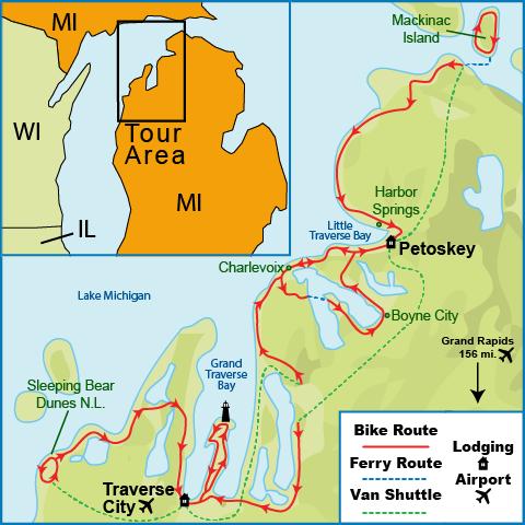 Road Trip Around Lake Michigan Full HD Pictures K Ultra Full - Lake michigan circle tour map