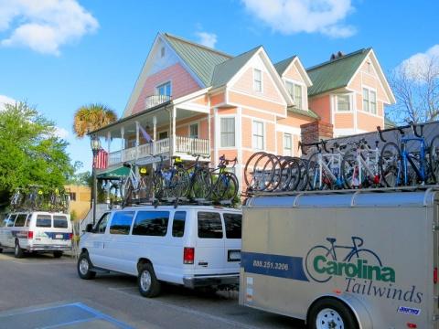 Cycling Support Van at Beaufort Inn, Beaufort, SC